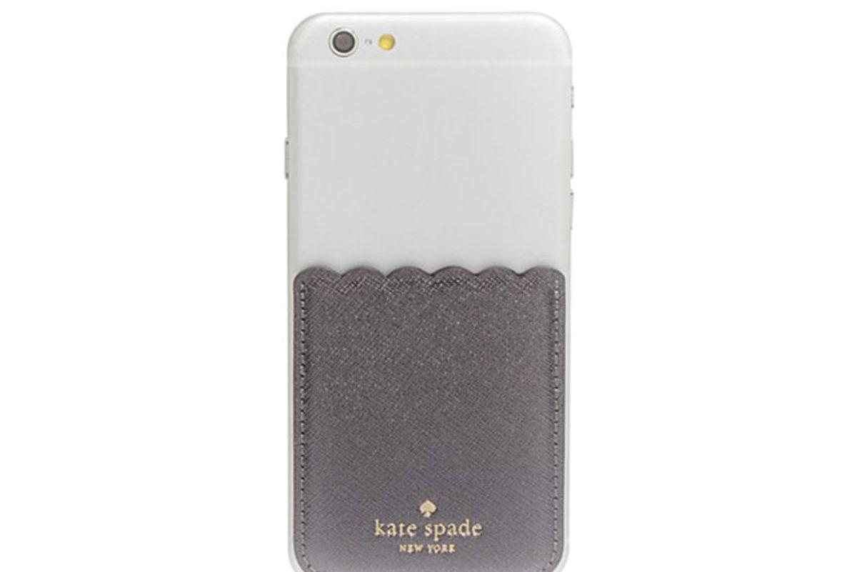 Scallop Pocket Adhesive Metallic Card Case