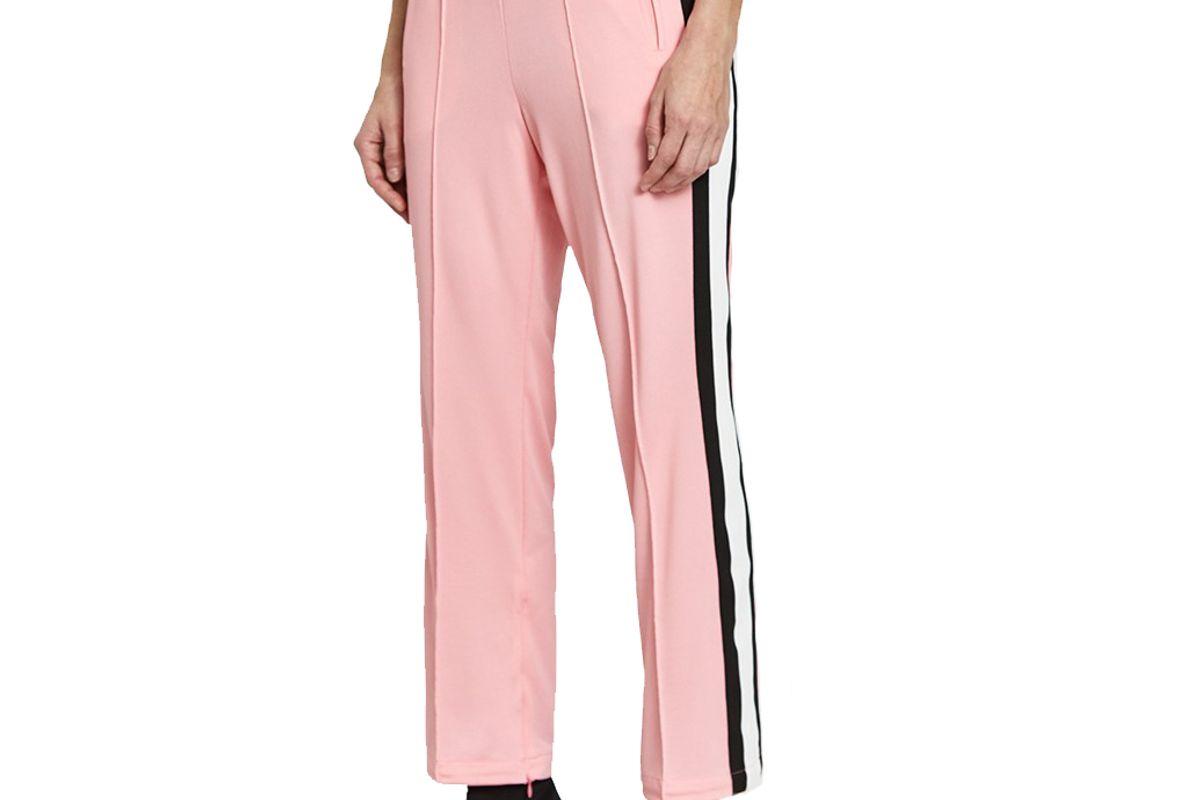 ganni dubois polo pants in sea pink