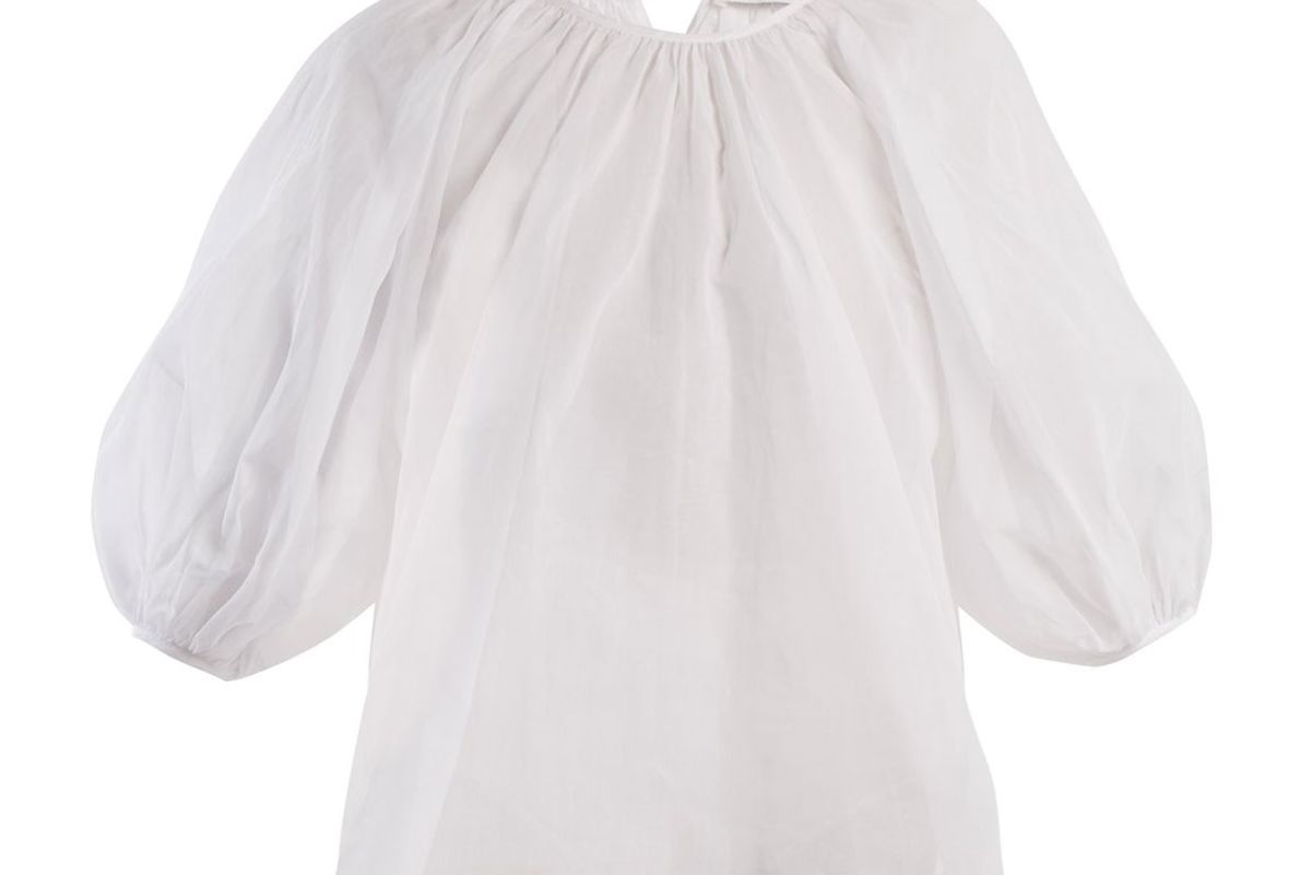cecilie bahsen astrid puff sleeve cotton blouse