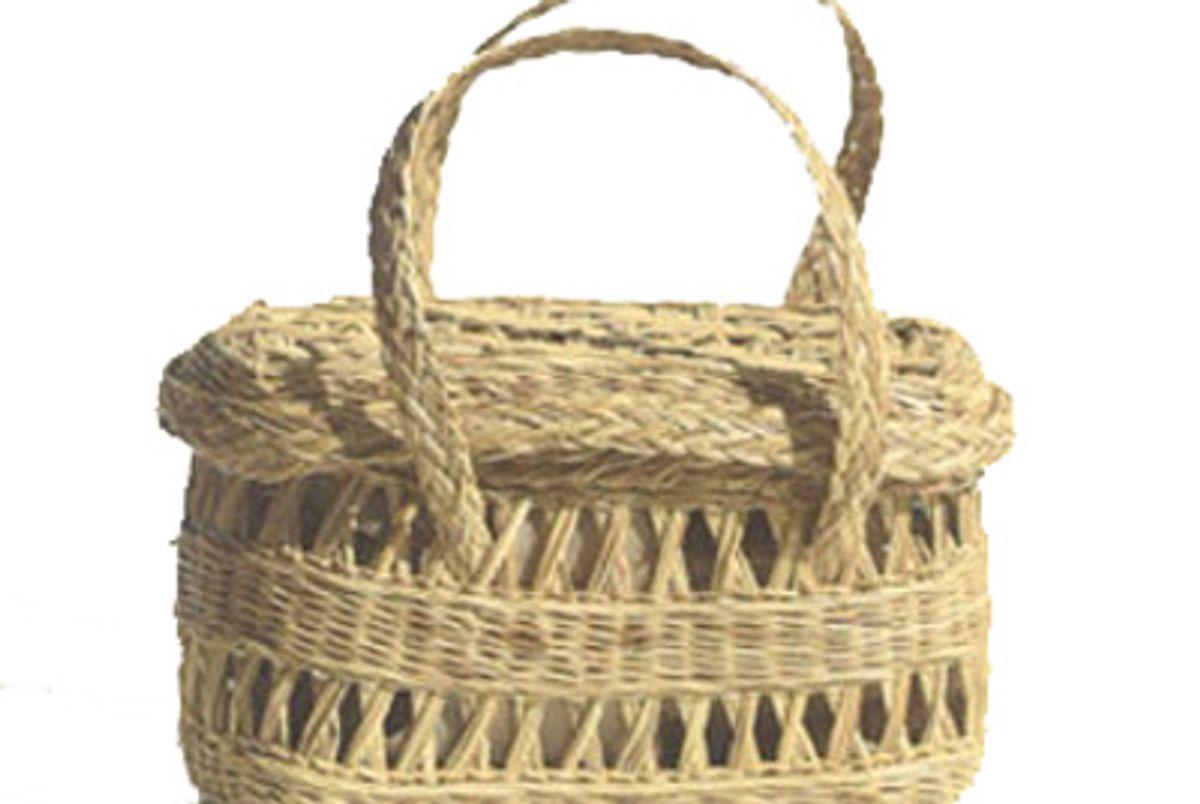 Straw Fish Basket