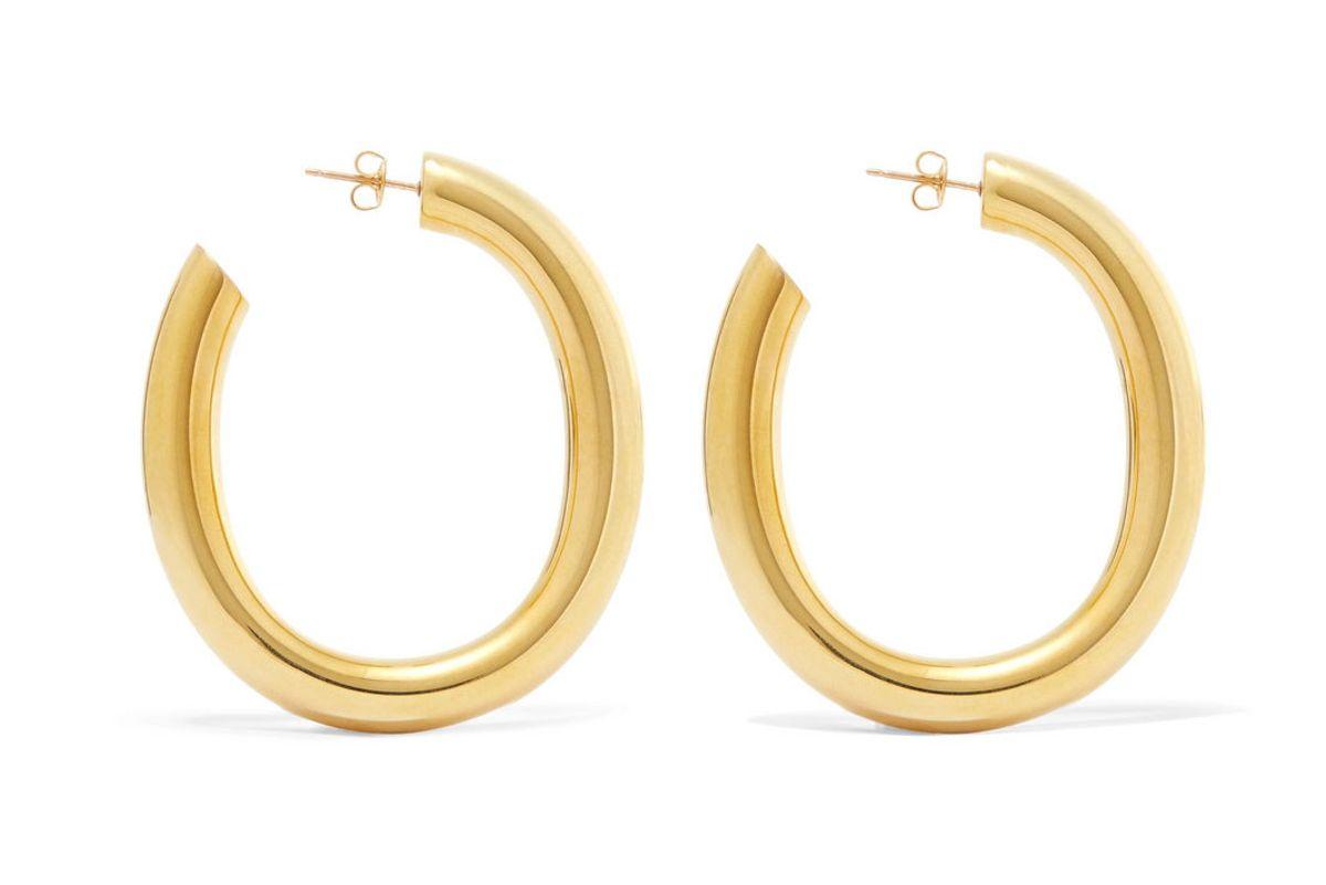 laura lombardi curve gold hoop earrings