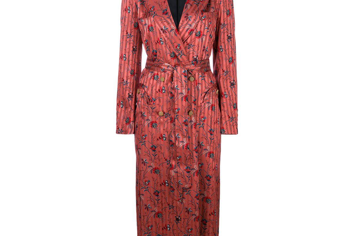 blaze milano silk double breasted blazer dress