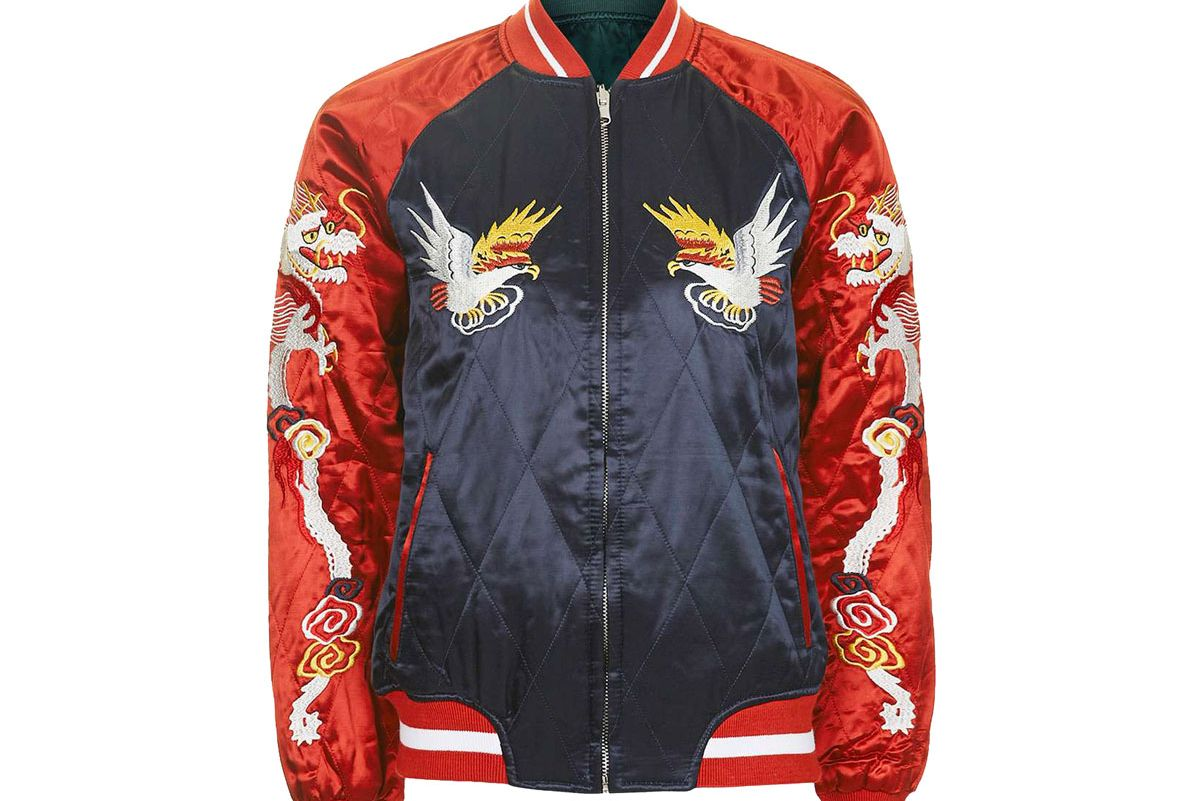 2-in-1 Embroidered Bomber Jacket