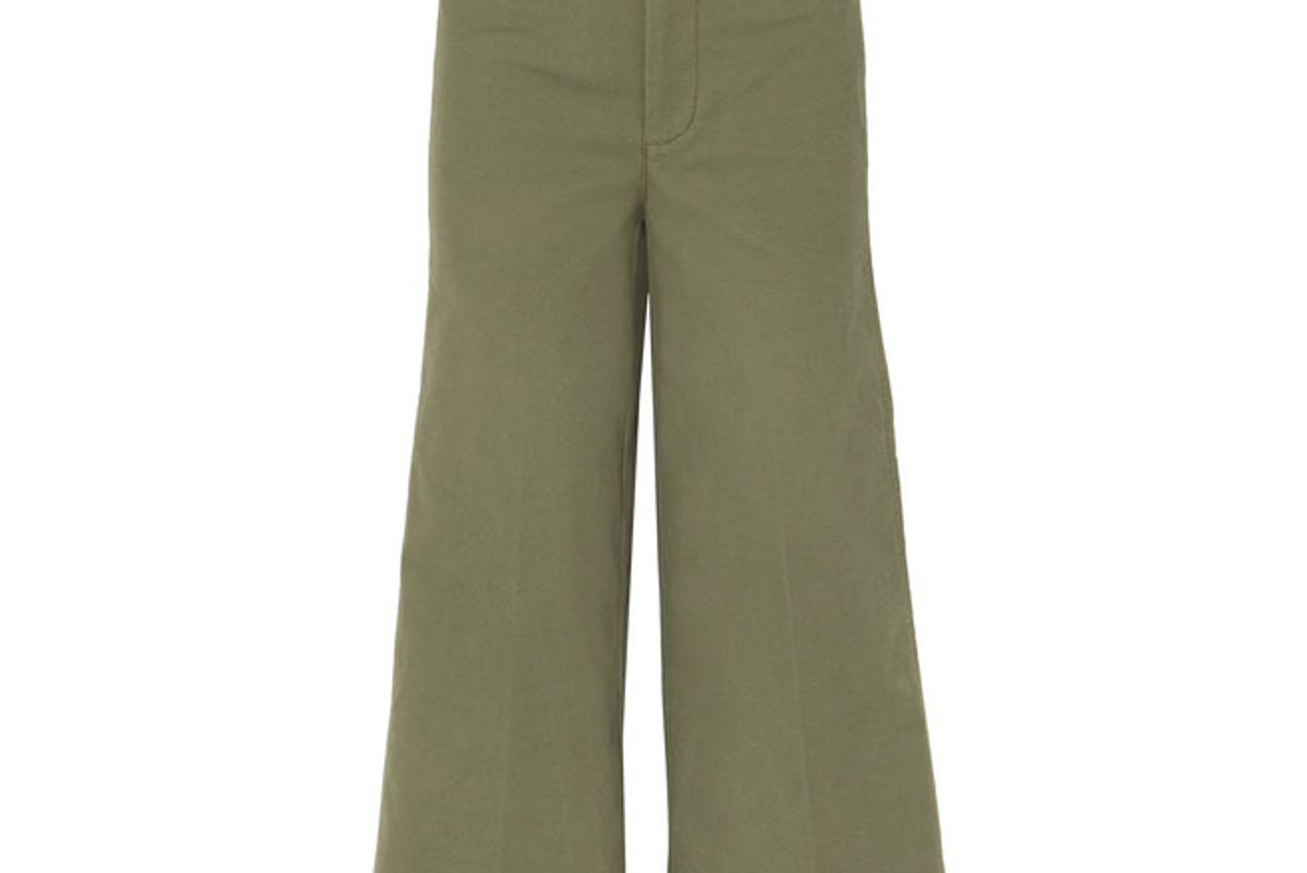 madewell langford cropped stretch cotton wide leg pants