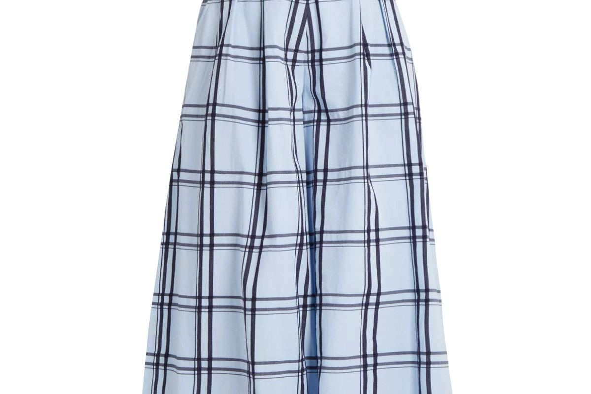 house of holland checked cotton wide leg culottes