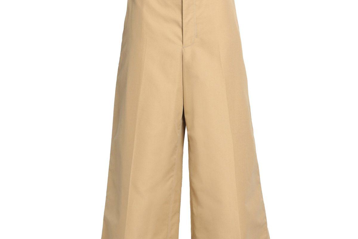 helmut lang cotton culottes