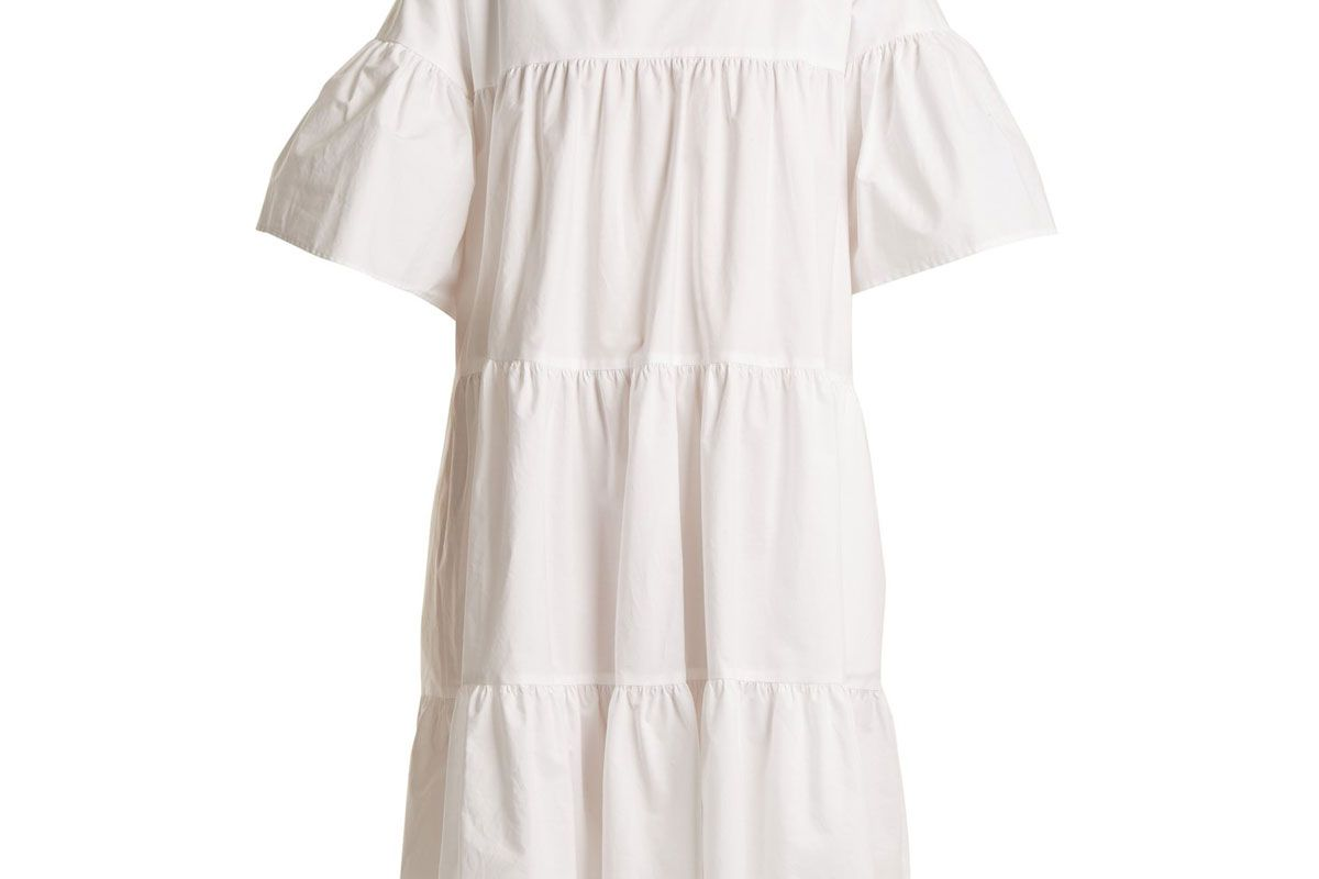 merlette st germain gathered cotton dress
