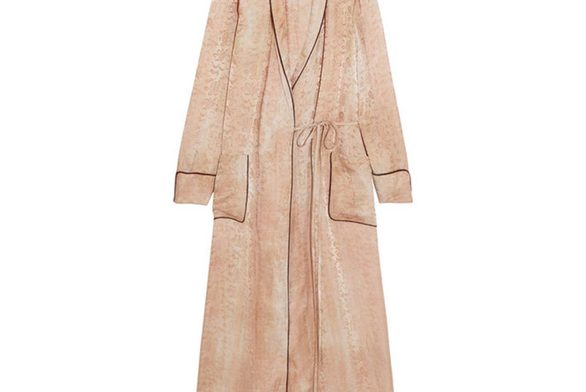 Silk Damask Wrap Dress