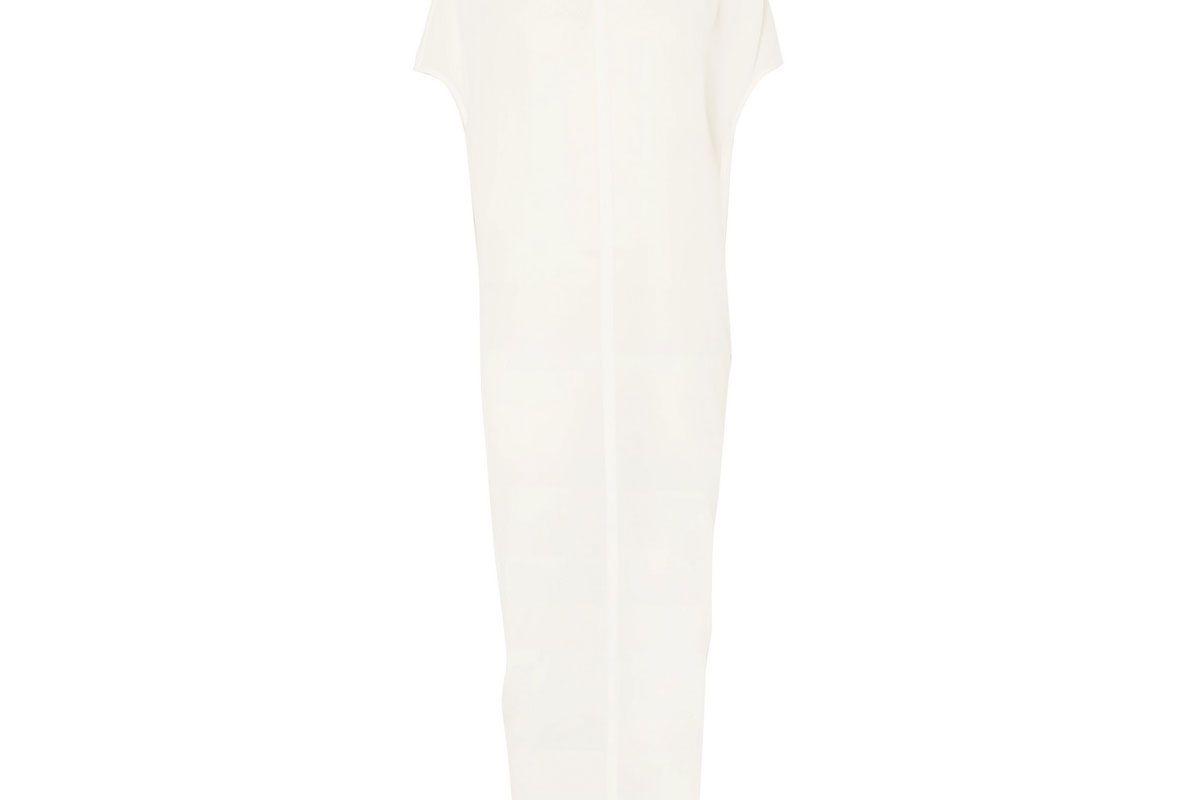 rick owens bead embellished silk georgette maxi dress