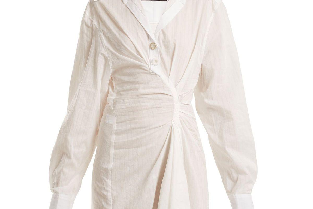 jacquemus maceio twist front cotton dress