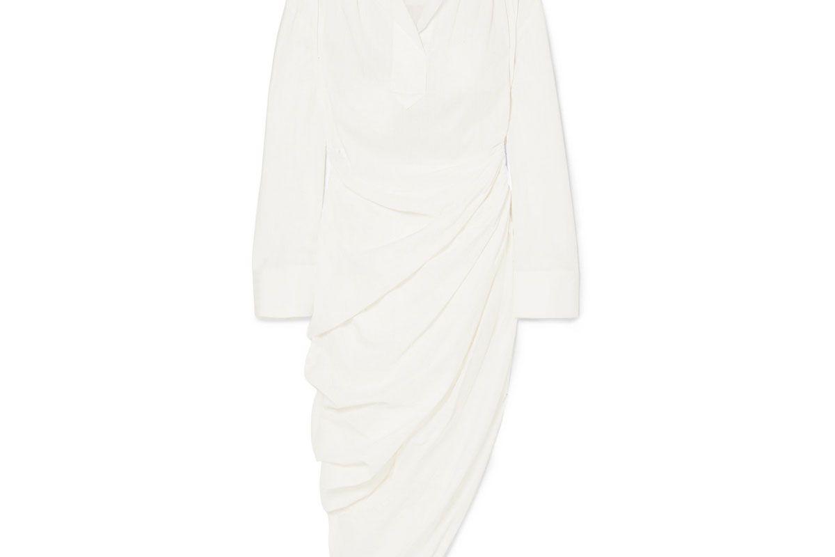 jacquemus amadora asymmetric cotton dress