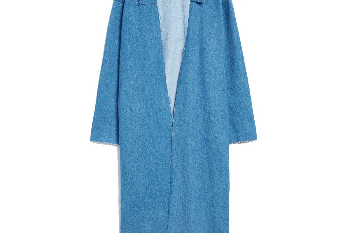 Coat in Medium Denim