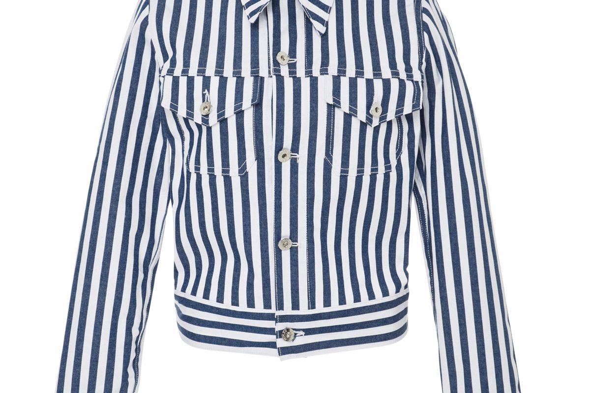 eve deni kaila striped denim jacket