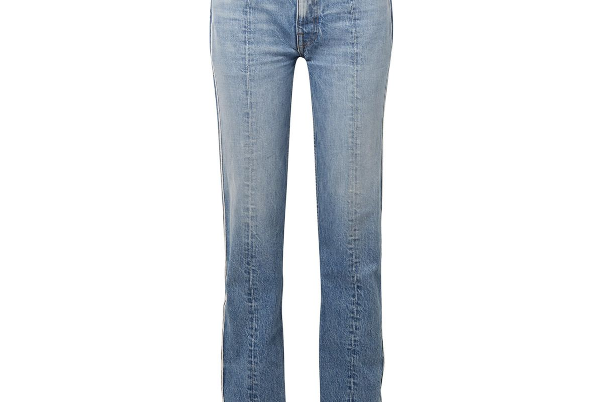 tre billie two tone boyfriend jeans