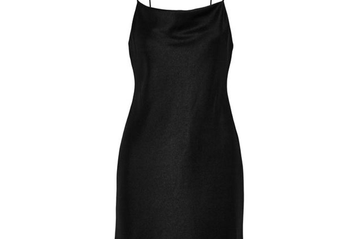 Harmony satin mini dress