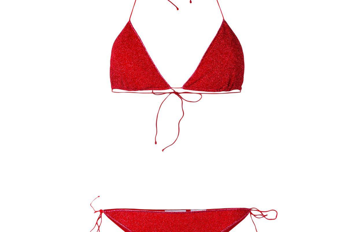 Lurex Triangle Bikini