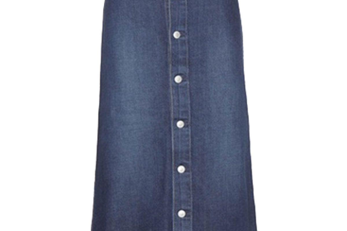 Cool Denim Midi Skirt