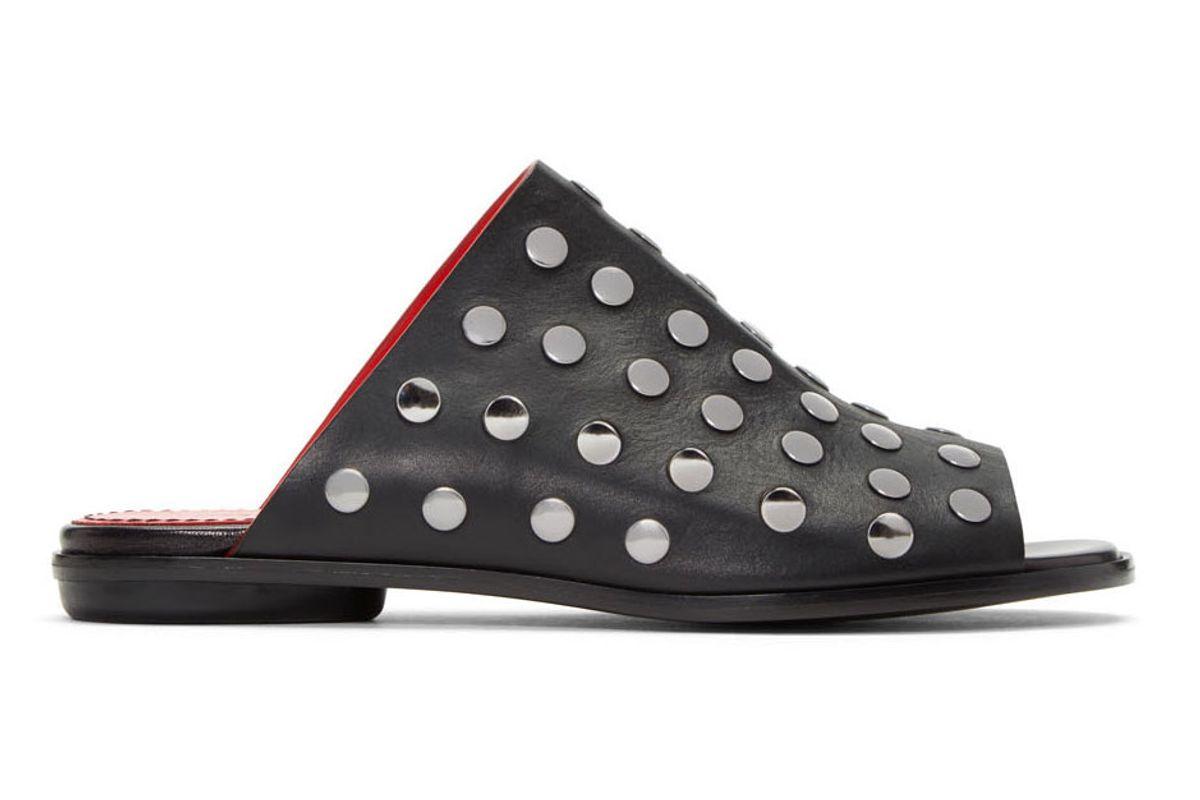 Black Studded Camp Sandals