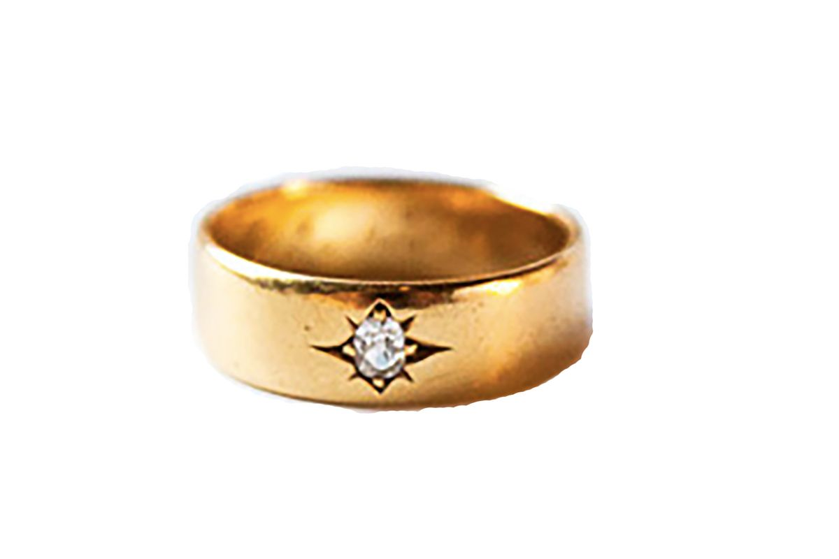 Vintage yellow gold Gypsy band