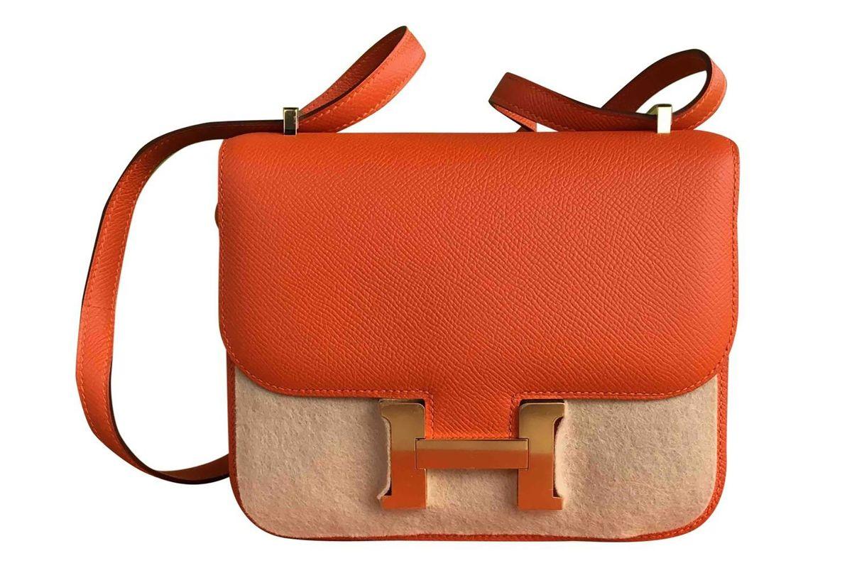 Constance leather crossbody bag