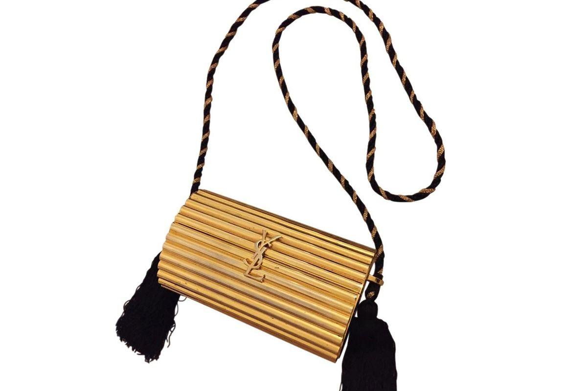 Gold clutch bag