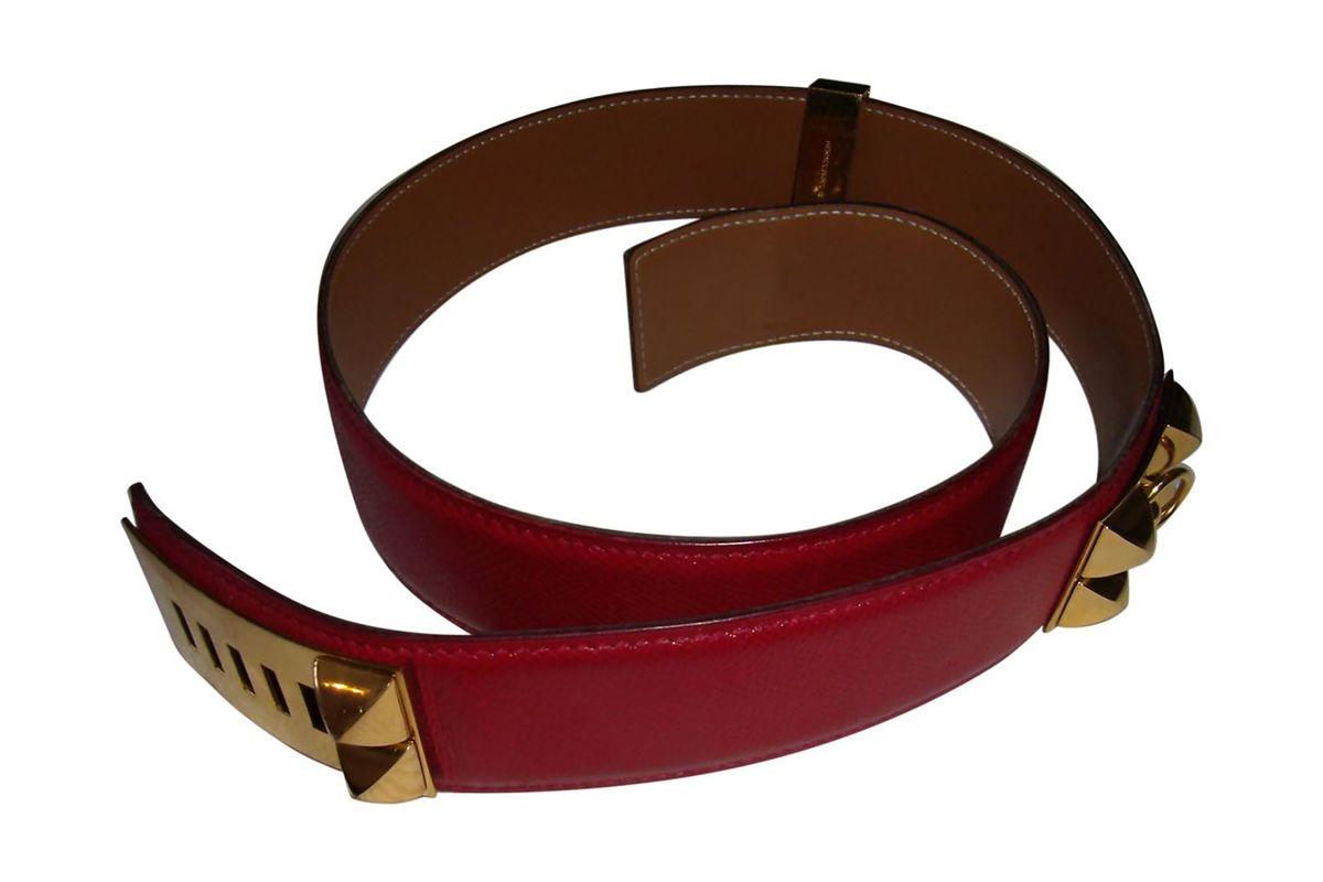 Collier de chien leather belt