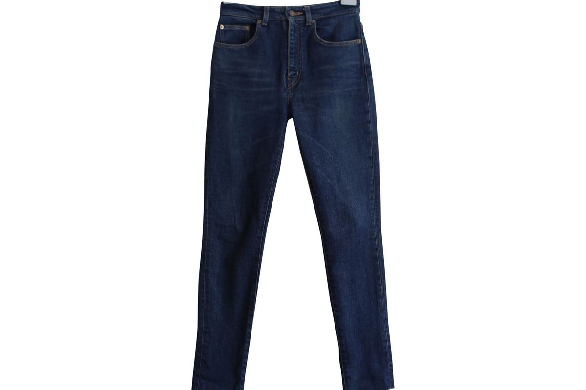 Slim blue jeans