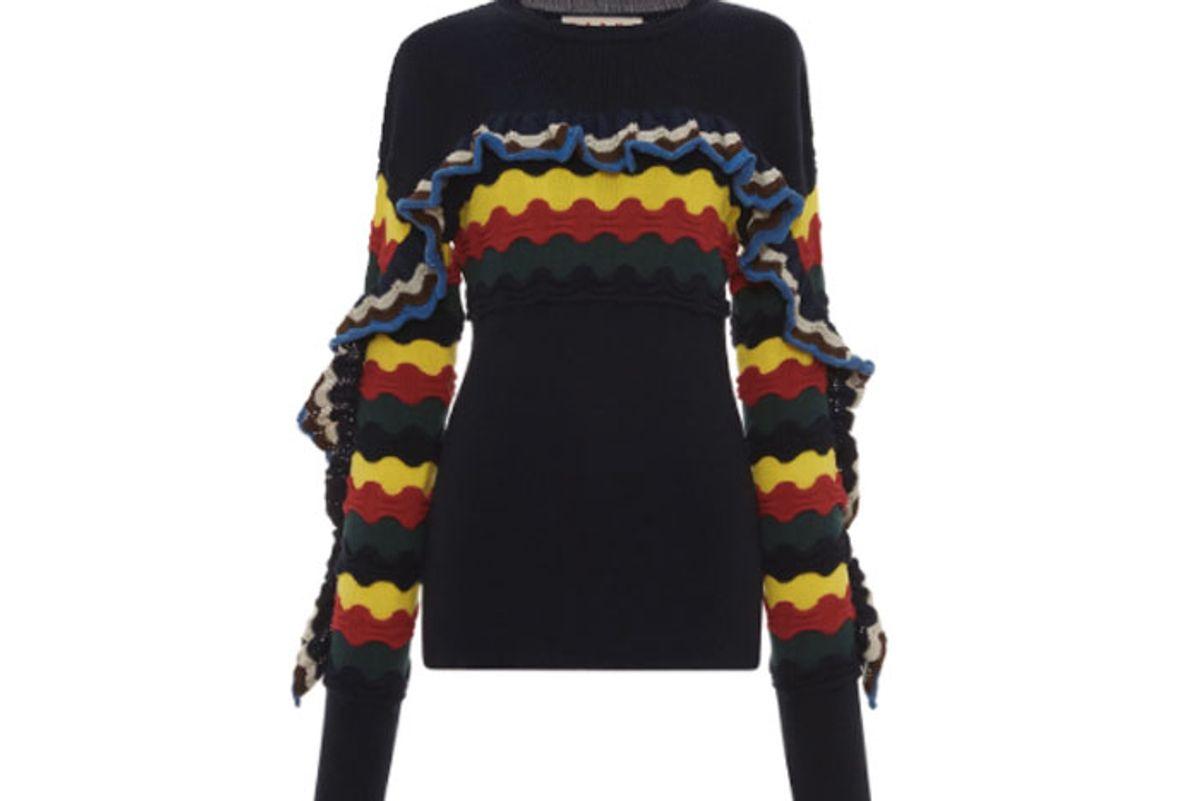 Multicolor Ruffle Sweater