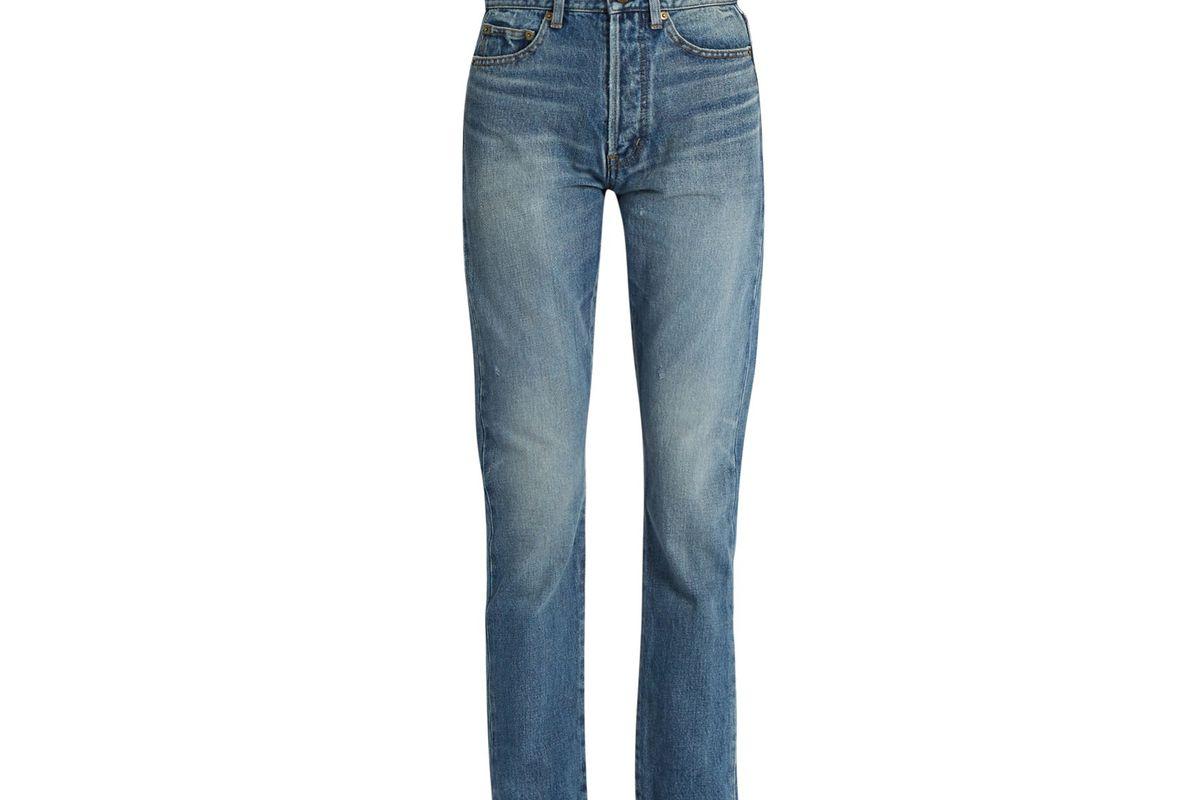 90s high-rise straight-leg jeans