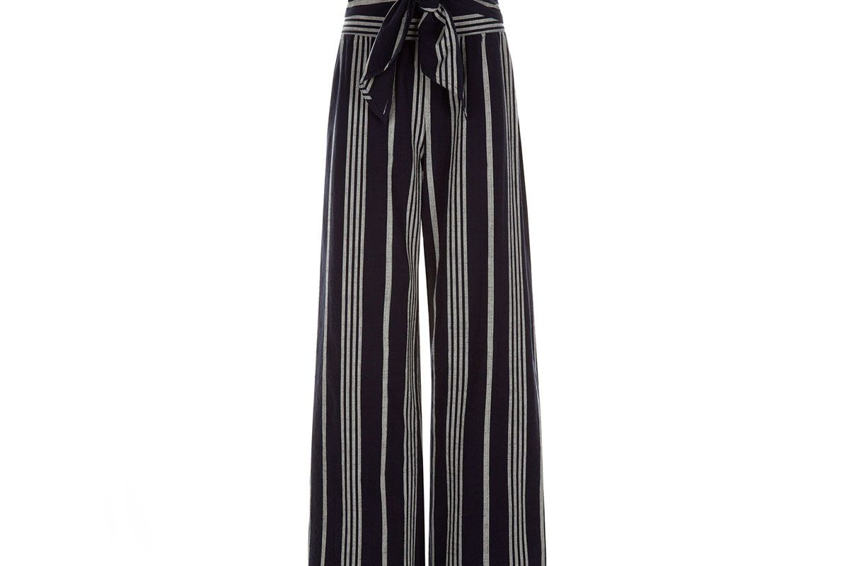 Selvedge Cotton Paperbag Waist Trousers