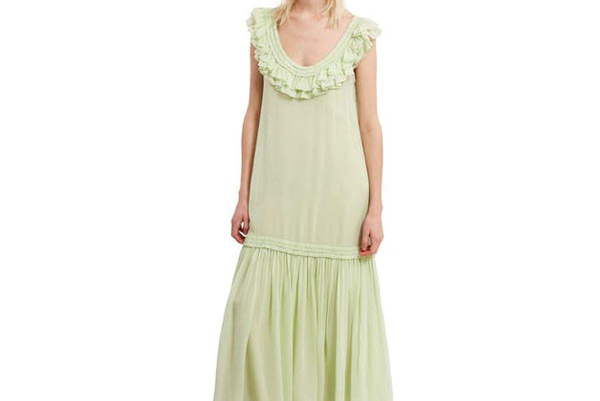 Chiffon Ruffle Maxi Dress