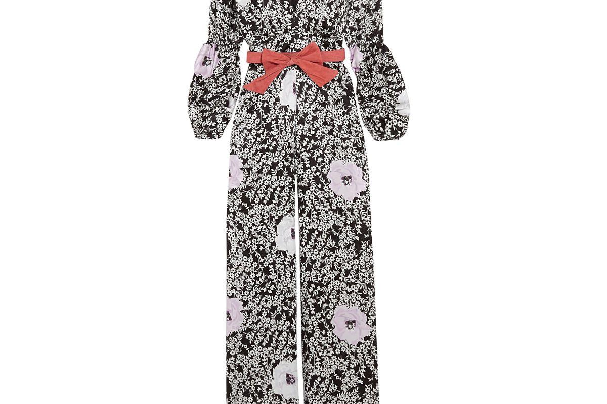 Tartufo Floral-Print Silk-Satin Jumpsuit