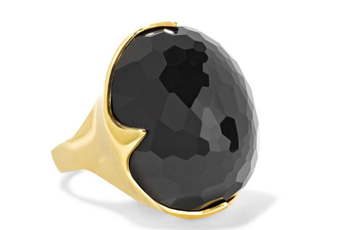 Rock Candy King 18-karat Gold Onyx Ring