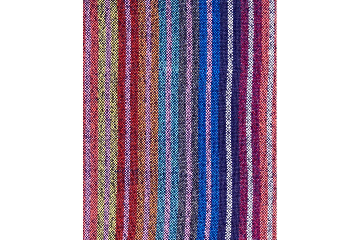 Striped Woven Cashmere Throw