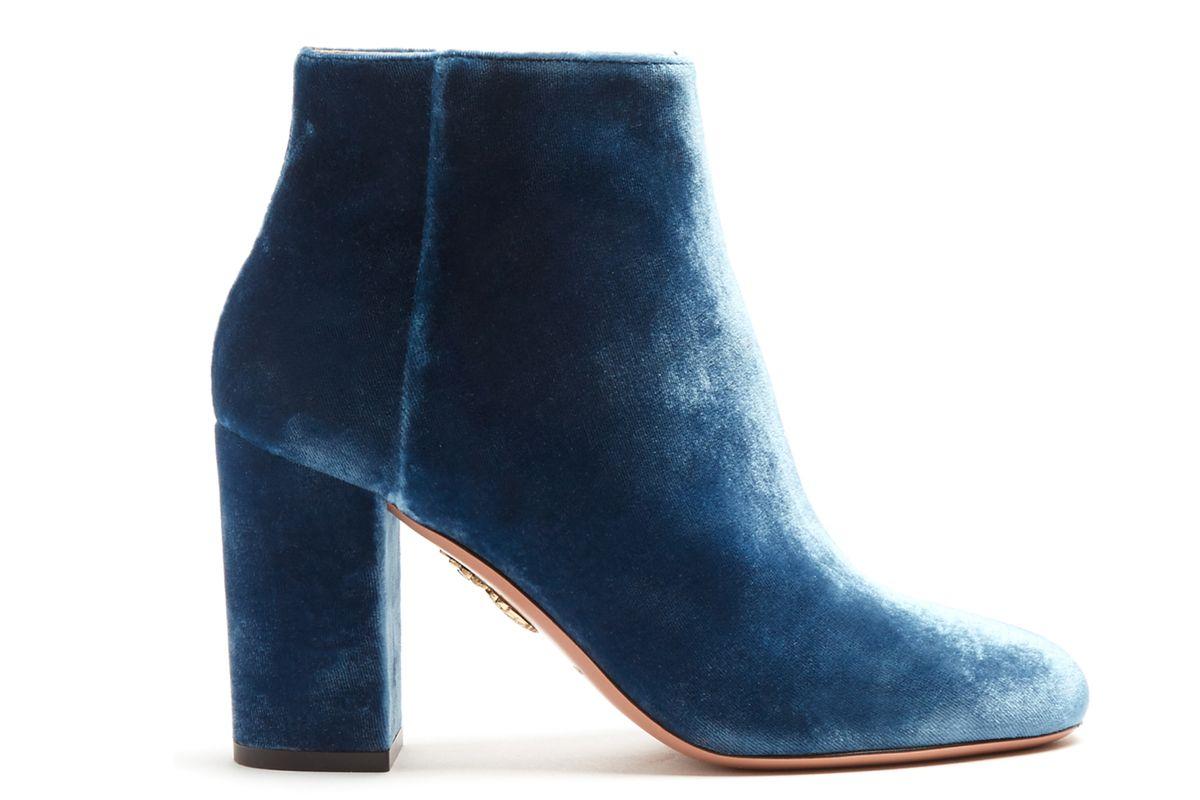 Brooklyn Velvet Ankle Boots