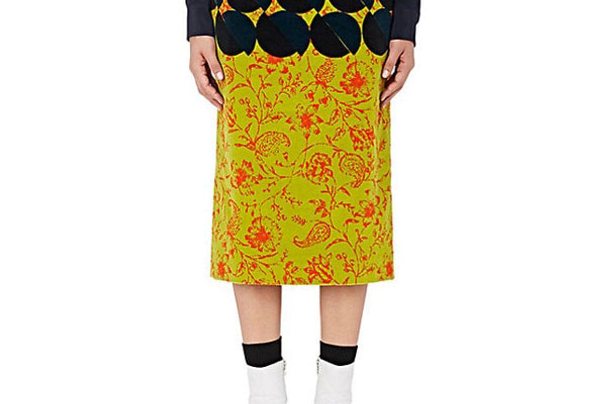 Scranton Stretch-Velvet Skirt