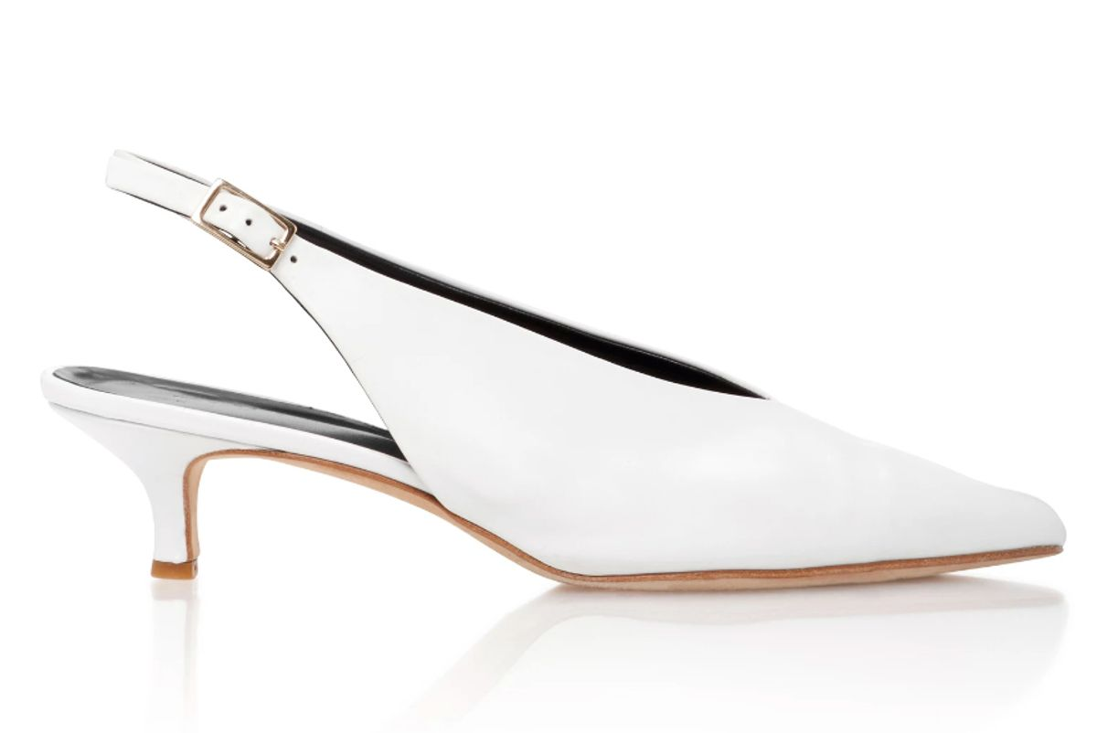 Lia Leather Slingback Pumps