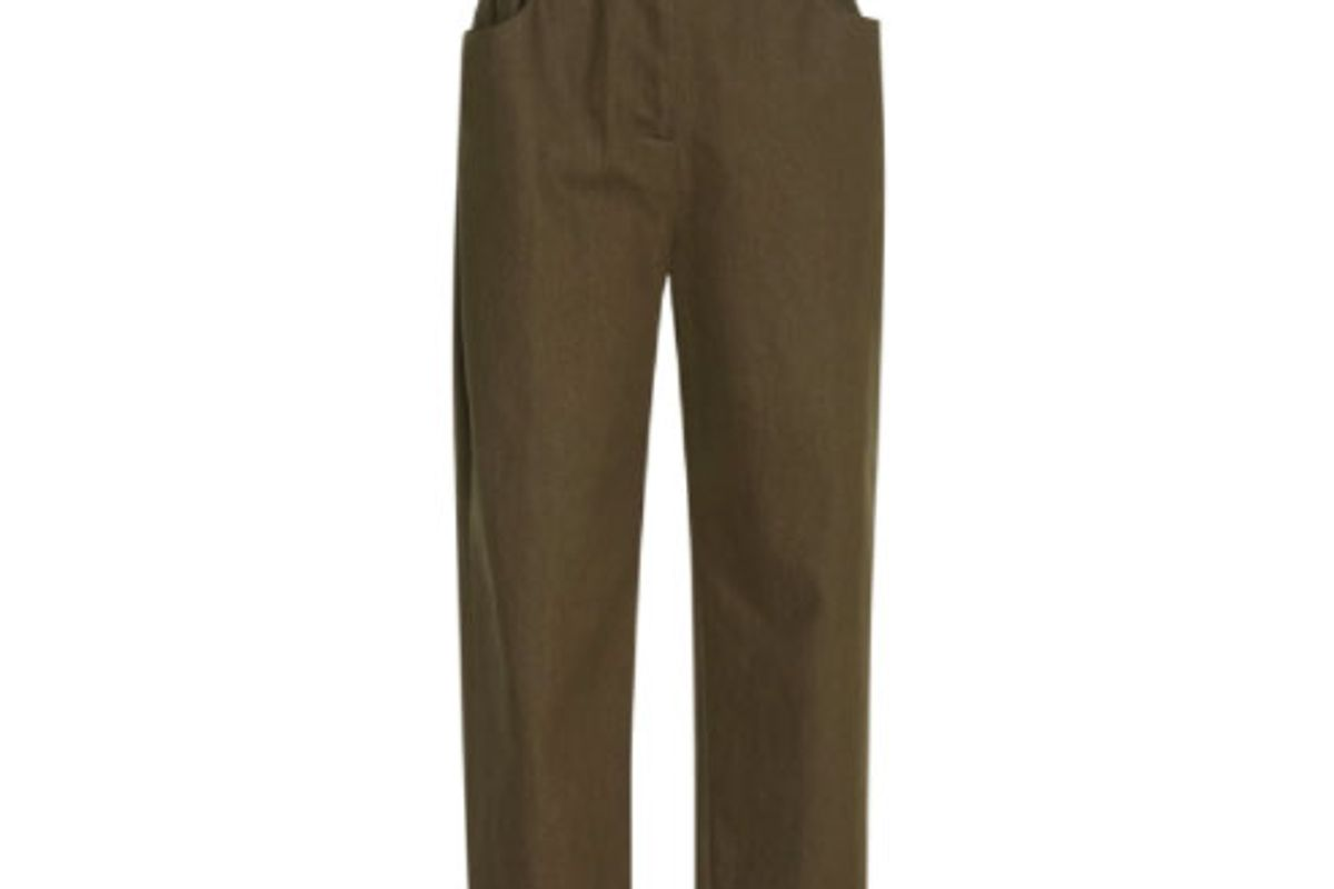 Broderie Trimmed Paper Bag Trousers