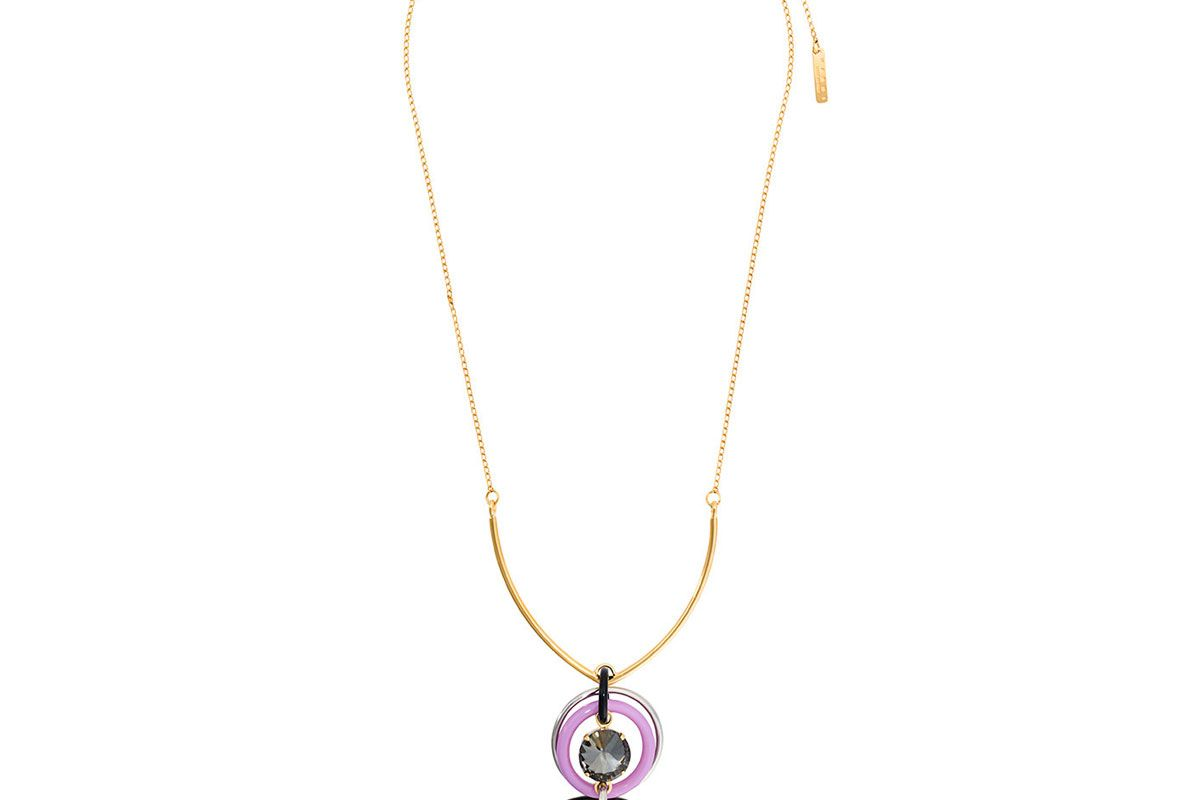 Circle Link Drop Necklace