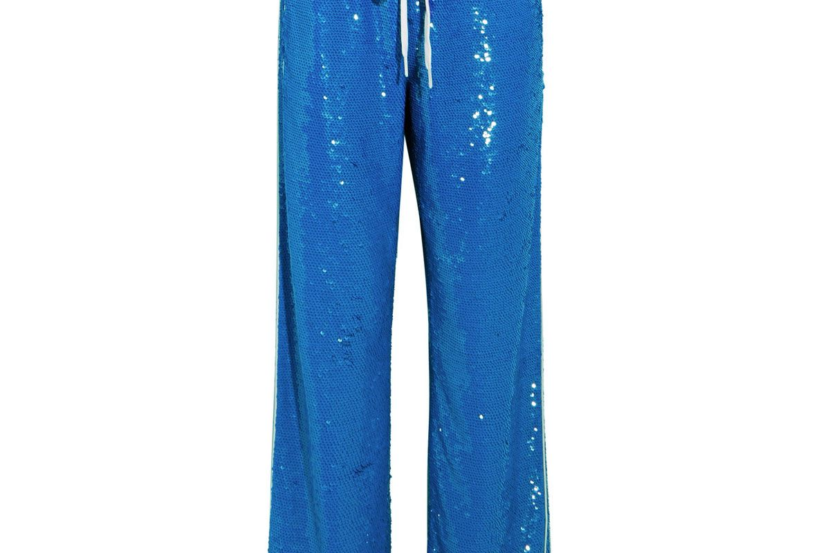 Sequined Cotton Track Pants
