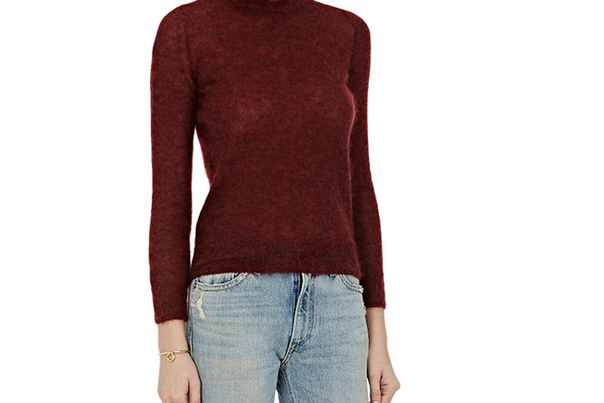 Mohair-Blend Crewneck Sweater