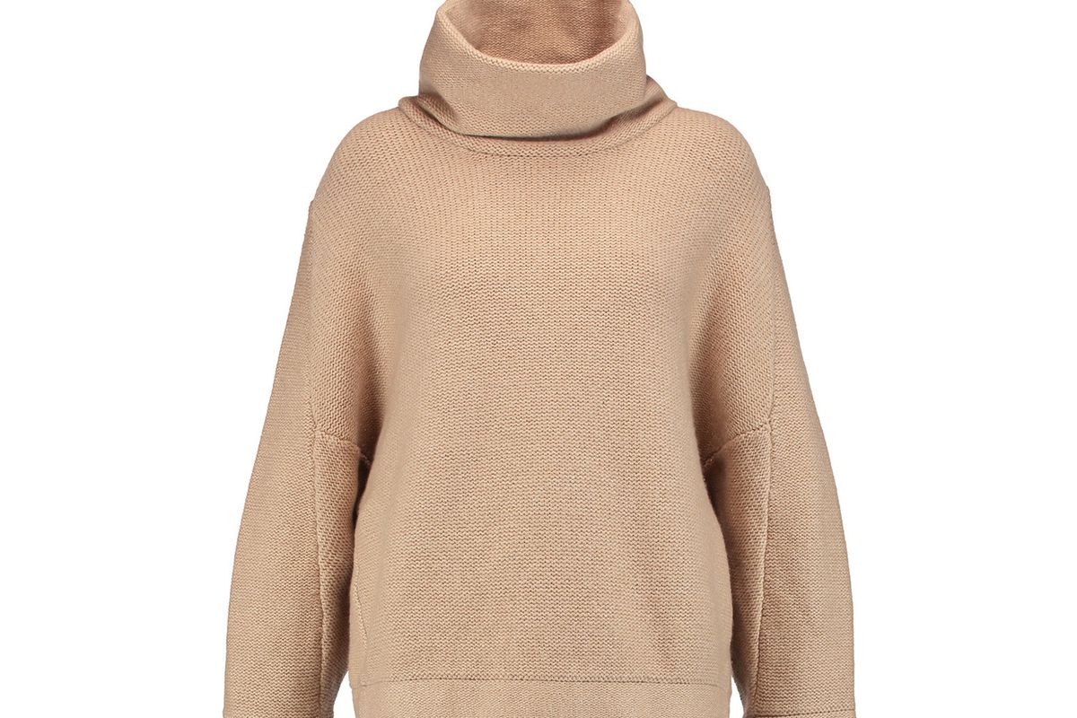 Metallic cashmere-blend turtleneck sweater