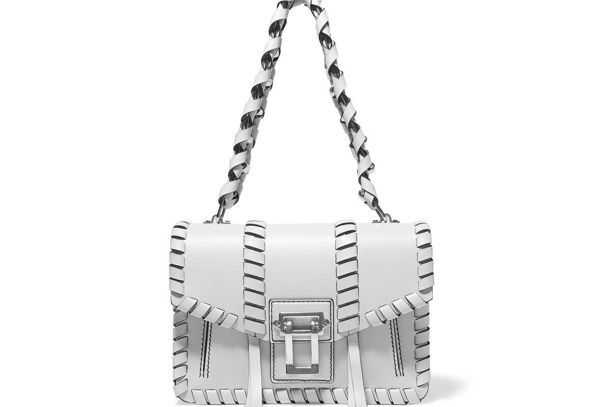 Hava whipstitched leather shoulder bag