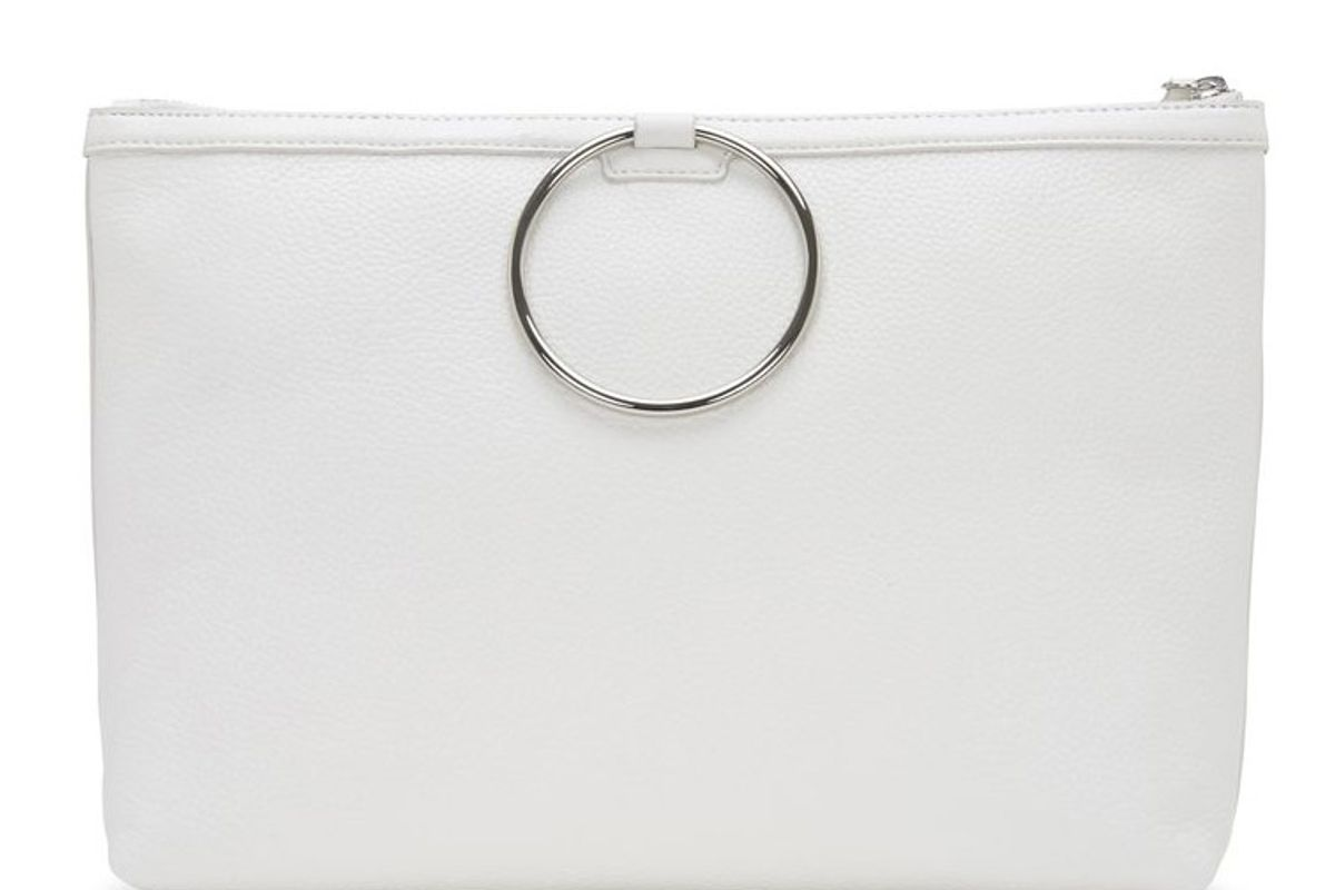 Off White Large Ring Pouch