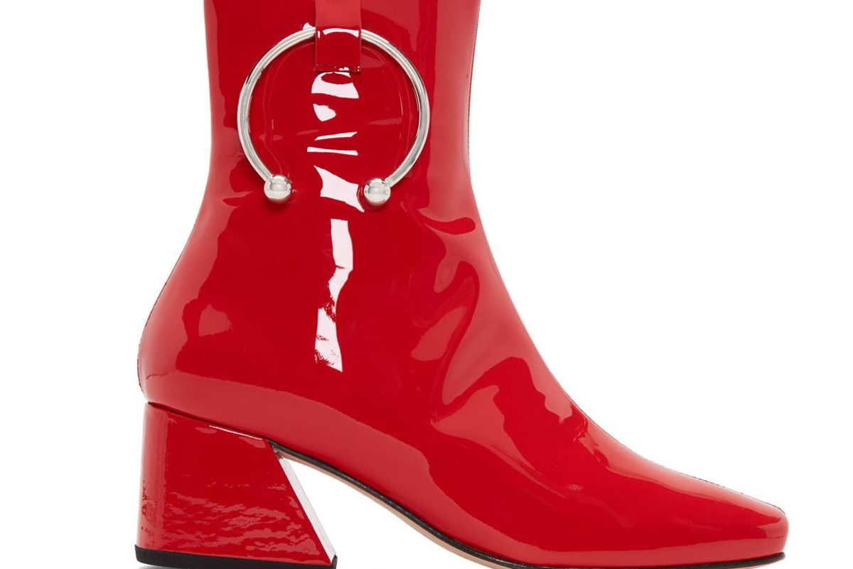 Red Patent Nizip Boots