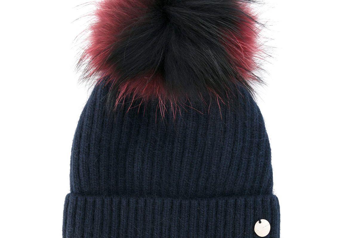 Removable Pom Pom Knit Hat