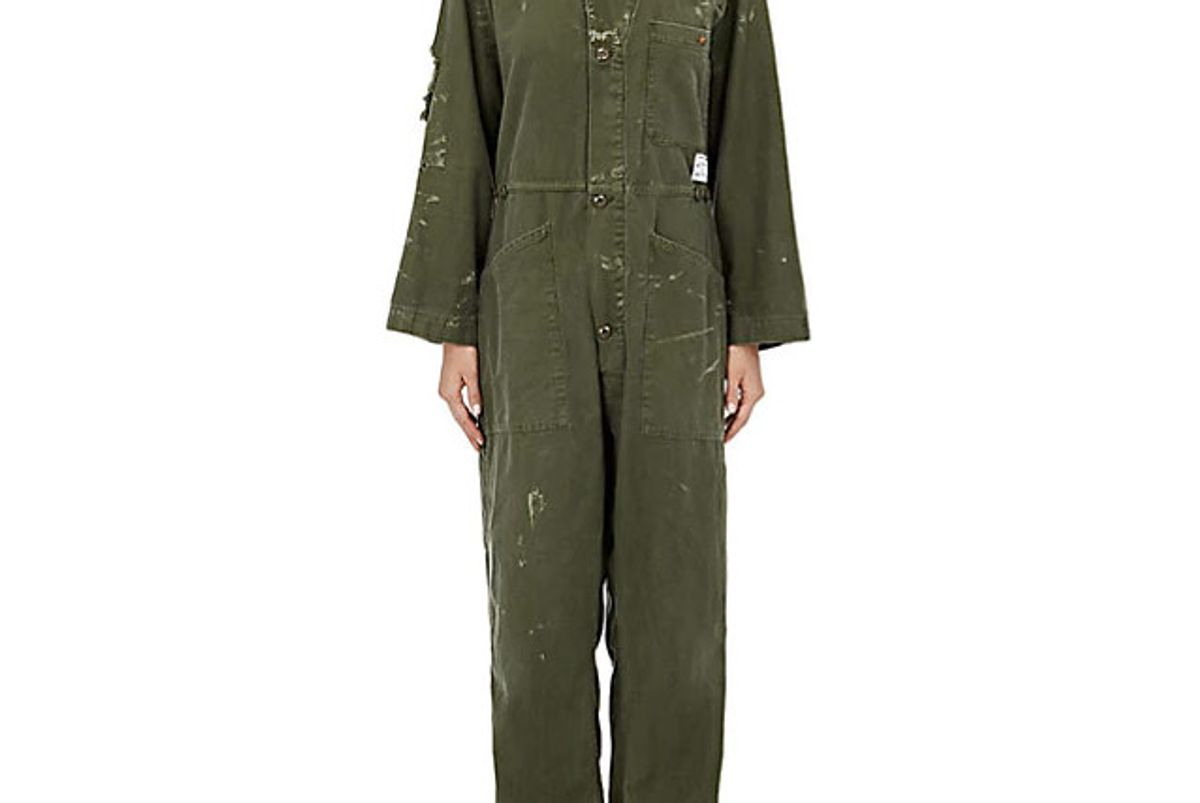 Mechanic Plain-Weave Cotton Jumpsuit