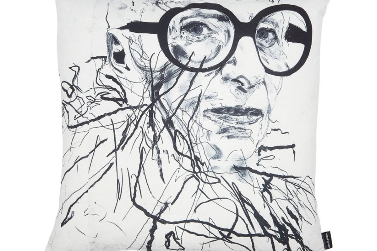 Robert Knoke Abstract Digital-Print Cotton-Blend Pillow