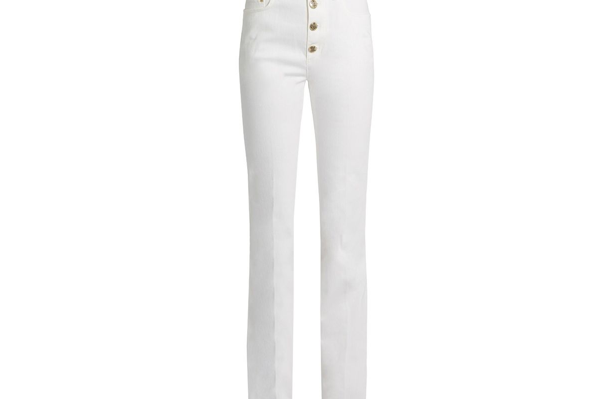 Sailor high-rise boot-cut jeans