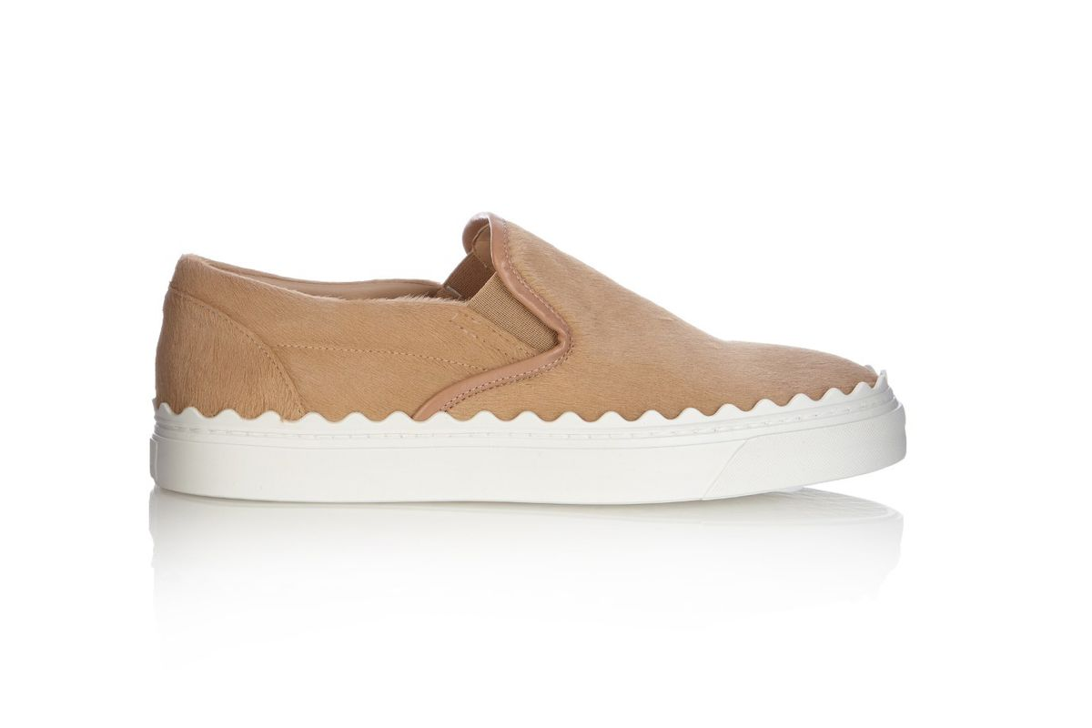 Ivy low-top calf-hair slip-on trainers